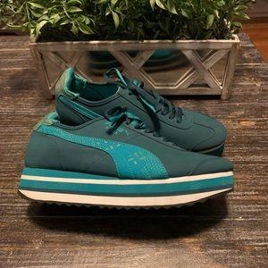 PUMA Roma Slim Stacked Flatform Sneakers Size 9.5